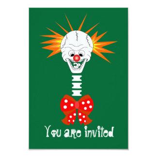 Invitación del payaso del cráneo de Halloween