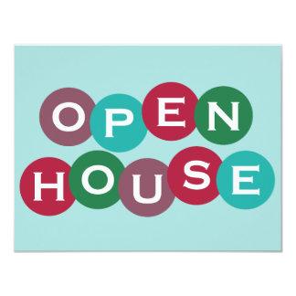 Invitación del personalizado de la casa abierta