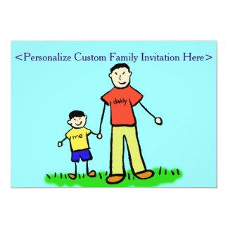 Invitación del personalizado de los caracteres de invitación 12,7 x 17,8 cm