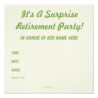 Invitación del personalizado del fiesta de retiro