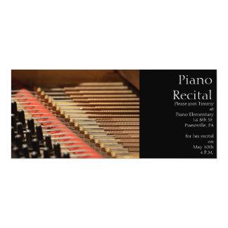 Invitación del piano del vintage invitación 10,1 x 23,5 cm