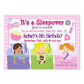 Invitación del pijama del Sleepover de la fiesta Invitación 11,4 X 15,8 Cm