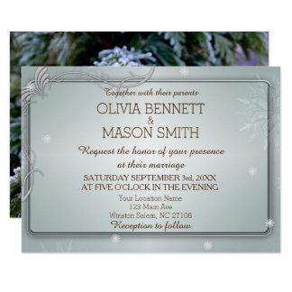 Invitación del pino del invierno y de boda de los