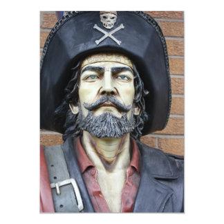 Invitación del pirata invitación 12,7 x 17,8 cm