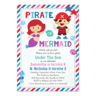 Invitación del pirata o de la sirena, bajo fiesta