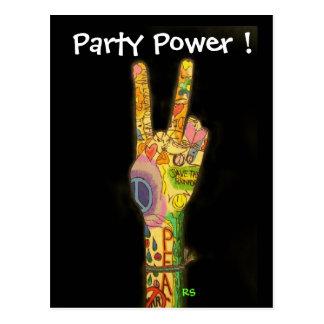 ¡Invitación del poder de la paz y del fiesta - Postal