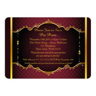 Invitación del Pre-Baile de fin de curso,