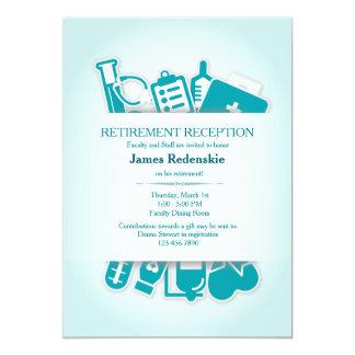 Invitación del retiro de los suministros médicos invitación 12,7 x 17,8 cm
