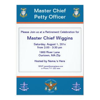 Invitación del retiro del ancla de USCG MCPO Eagle