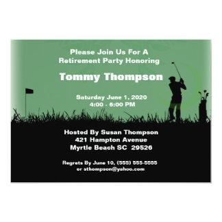 Invitación del retiro del golf