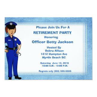Invitación del retiro del oficial de policía de la