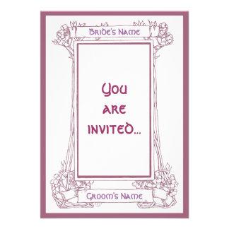 Invitación del rosa del marco de la baya de Nouvea