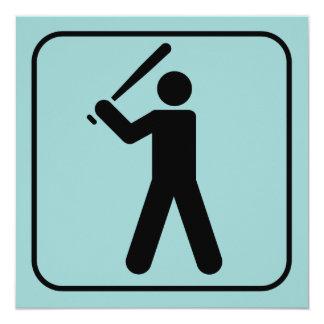 Invitación del símbolo del béisbol