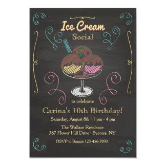 Invitación del Social del helado Invitación 12,7 X 17,8 Cm