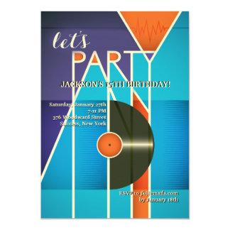 Invitación del sonido del fiesta invitación 12,7 x 17,8 cm
