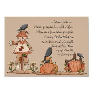 Invitación del susto del cuervo invitación 12,7 x 17,8 cm