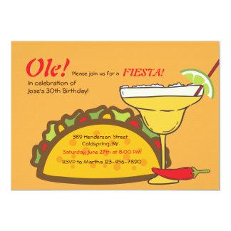 Invitación del Tacos y de los Margaritas