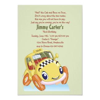 Invitación del taxi invitación 12,7 x 17,8 cm
