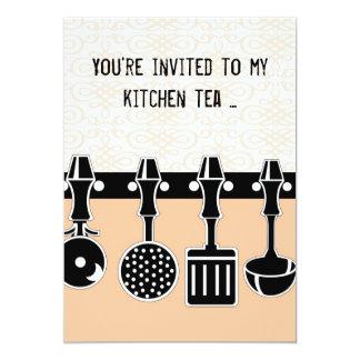 Invitación del té de la cocina