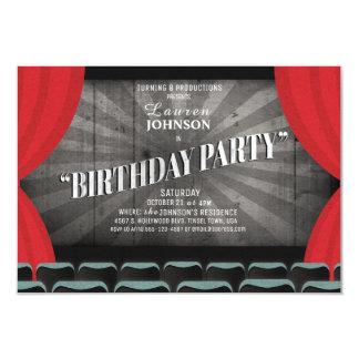 Invitación del teatro de la fiesta de cumpleaños