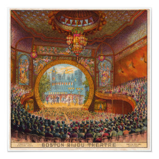 Invitación del teatro de la joya de Boston