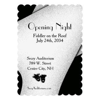 Invitación del teatro de la noche de la