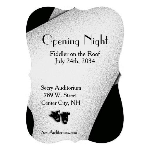 Invitación del teatro de la noche de la inauguraci