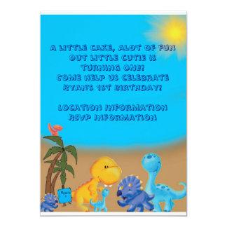 Invitación del tema del dinosaurio invitación 12,7 x 17,8 cm