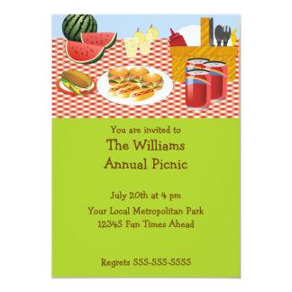 Invitación del tiempo de la comida campestre