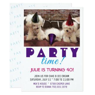 Invitación del tiempo del fiesta