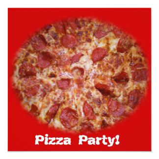 Invitación del tiempo del fiesta de la pizza