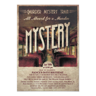 Invitación del tren del misterioso asesinato