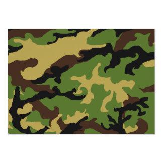 """""""Invitación del tributo militar del camuflaje"""" Invitación 12,7 X 17,8 Cm"""