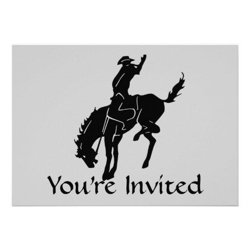 Invitación del vaquero del caballo