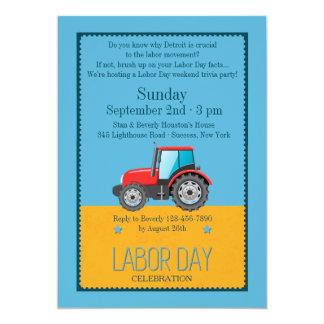Invitación del vehículo del Día del Trabajo