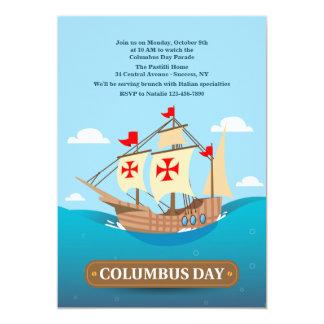 Invitación del velero de Columbus