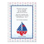 Invitación del velero y de la travesía del verano