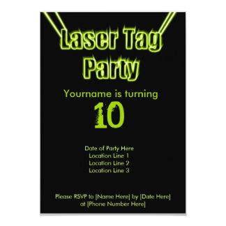Invitación del verde del fiesta de la etiqueta del