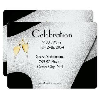 Invitación del vidrio de Champán de la celebración