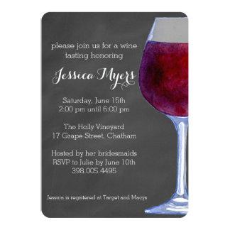 Invitación del vino de la pizarra
