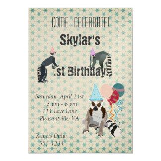 Invitación del vintage del cumpleaños de los invitación 12,7 x 17,8 cm