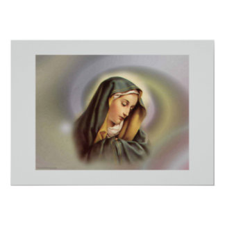 Invitación del Virgen María 2 Invitación 12,7 X 17,8 Cm