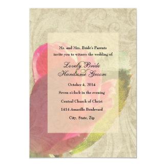 Invitación descolorada del boda del pergamino del
