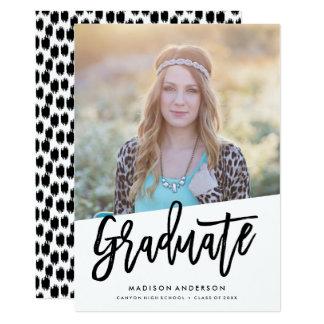 Invitación despreocupada de la graduación