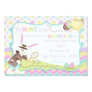 Invitación detective de la caza del huevo de
