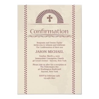 Invitación devota de la confirmación del alcohol