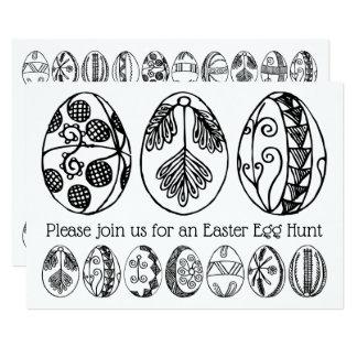 Tarjeta Invitación dibujada mano del colorante de la caza