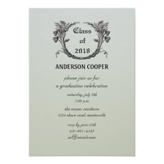Invitación directiva de la graduación de la invitación 12,7 x 17,8 cm
