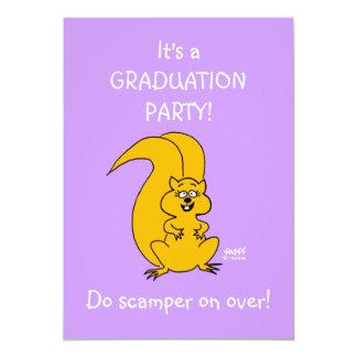 Invitación divertida de la fiesta de graduación de