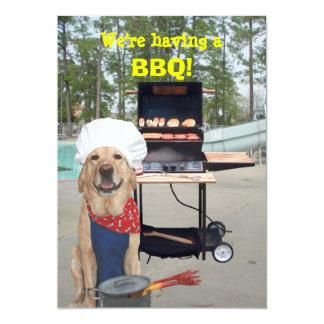 Invitación divertida del Bbq del perro del Invitación 12,7 X 17,8 Cm